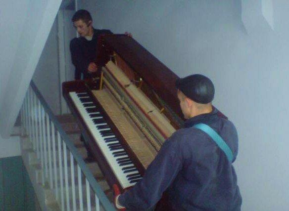 Поэтажный спуск пианино
